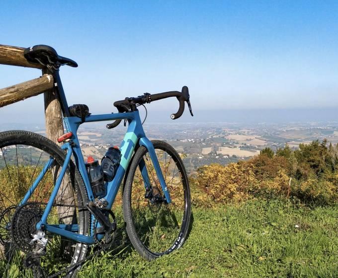 Percorso Eddy Merckx: a 386 mt s.l.m il panorama è uno spettacolo.